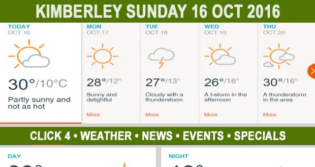 Today in Kimberley South Africa - Weather News Events 2016/10/16