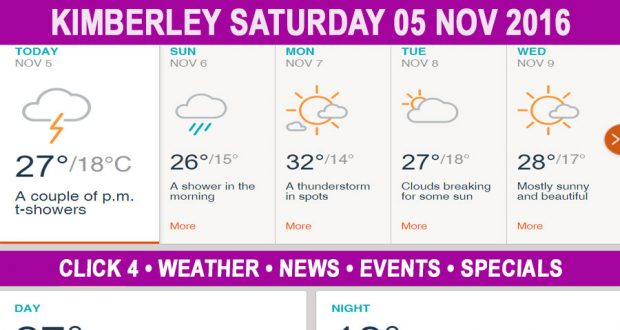Today in Kimberley South Africa - Weather News Events 2016/11/05