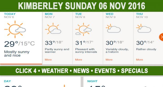 Today in Kimberley South Africa - Weather News Events 2016/11/06