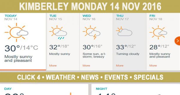 Today in Kimberley South Africa - Weather News Events 2016/11/14