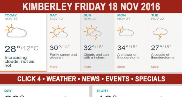 Today in Kimberley South Africa - Weather News Events 2016/11/18