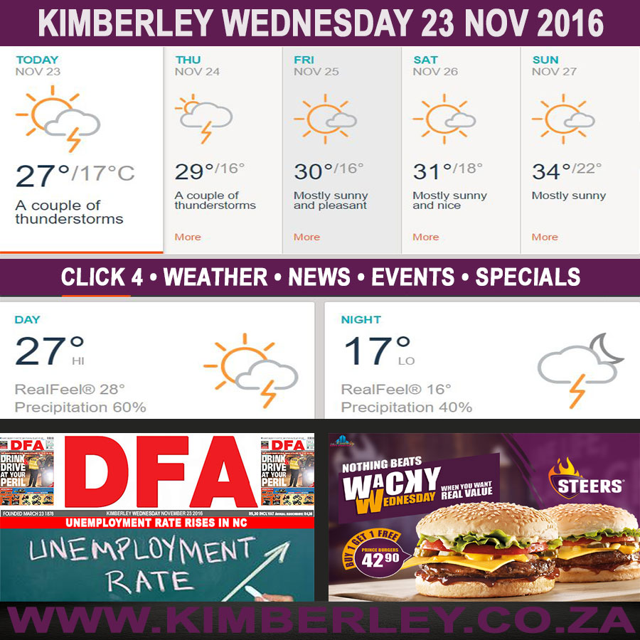 oday in Kimberley South Africa - Weather News Events 2016/11/23