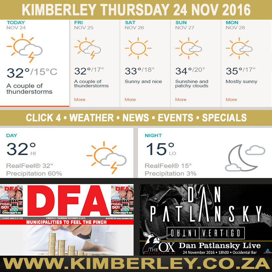 oday in Kimberley South Africa - Weather News Events 2016/11/24