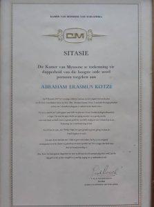 PT-Abraham_Kotze-Bravery_Certificate-1977