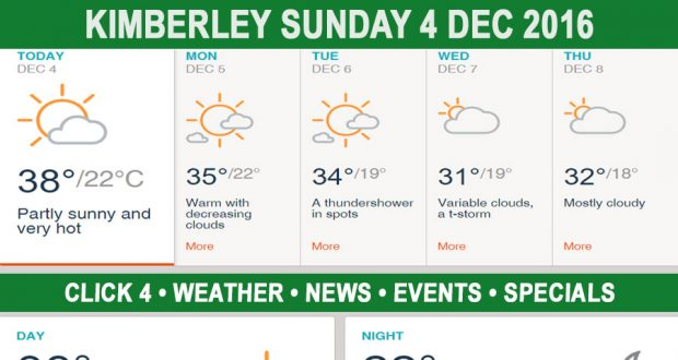 Today in Kimberley South Africa - Weather News Events 2016/12/04
