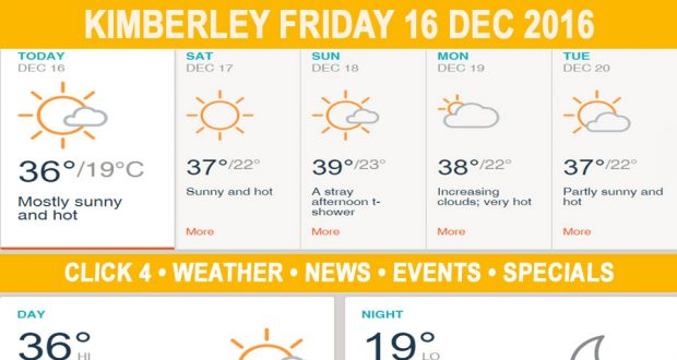 Today in Kimberley South Africa - Weather News Events 2016/12/16