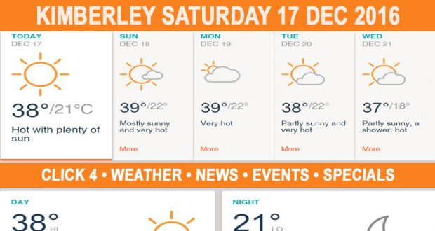 Today in Kimberley South Africa - Weather News Events 2016/12/17