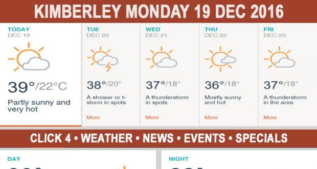 Today in Kimberley South Africa - Weather News Events 2016/12/19
