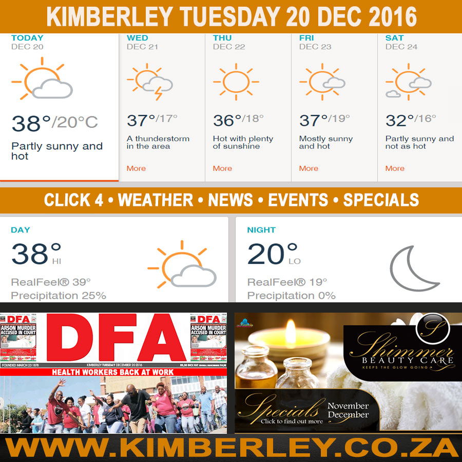Today in Kimberley South Africa - Weather News Events 2016/12/20