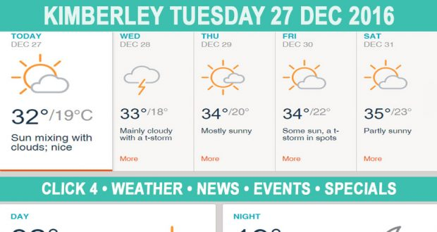Today in Kimberley South Africa - Weather News Events 2016/12/27
