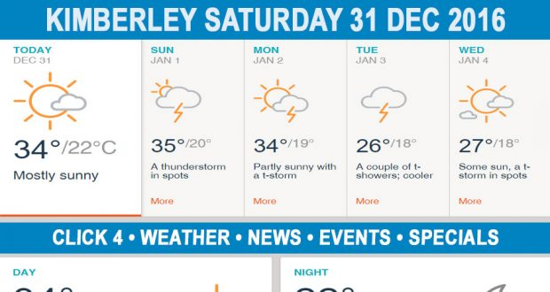 Today in Kimberley South Africa - Weather News Events 2016/12/31
