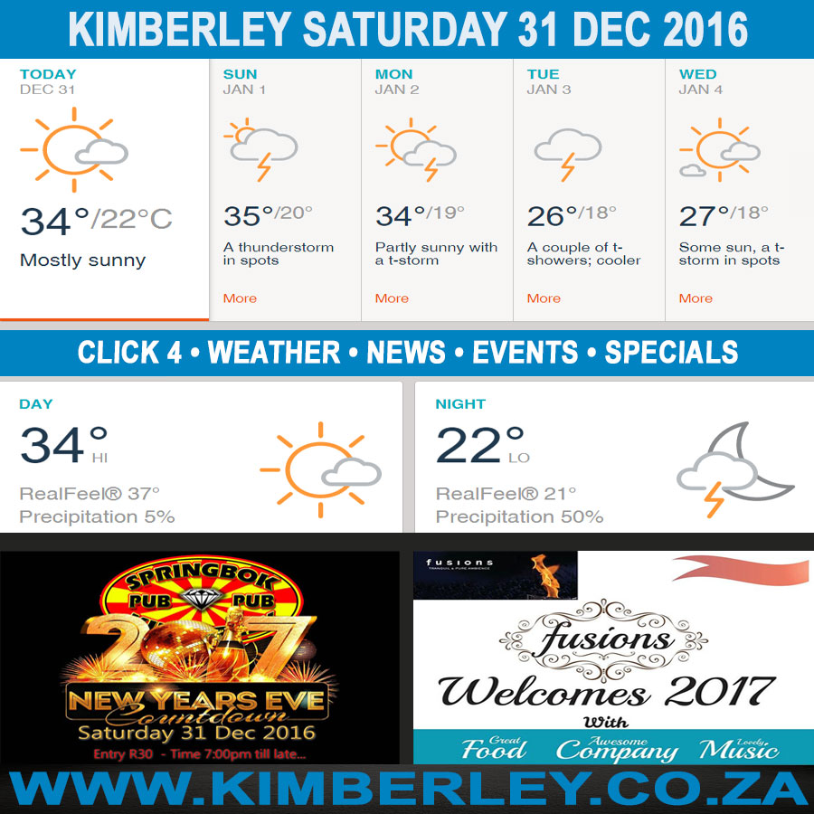 Kimberleytoday Saturday 31 12 2016 Kimberley City Info