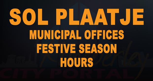 Sol Plaatje Festive Season hours 2016