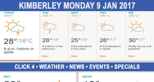 Today in Kimberley South Africa - Weather News Events 2017/01/09