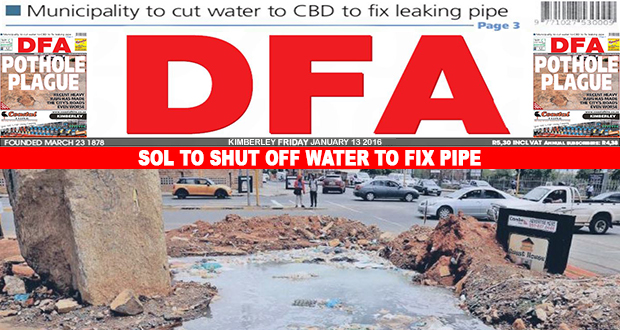 Sol to shut water to fix pipe