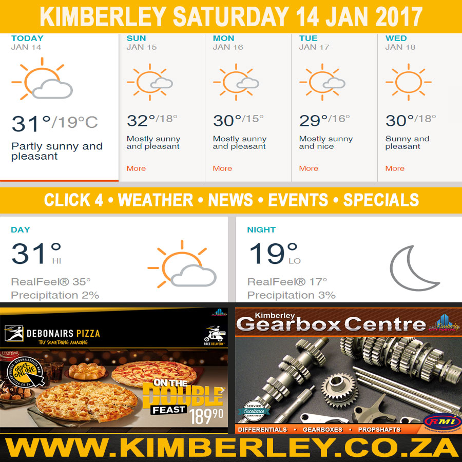 Kimberleytoday Saturday 14 01 2017 Kimberley City Info