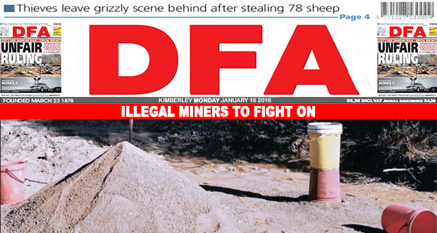 Illegal miners to fight on
