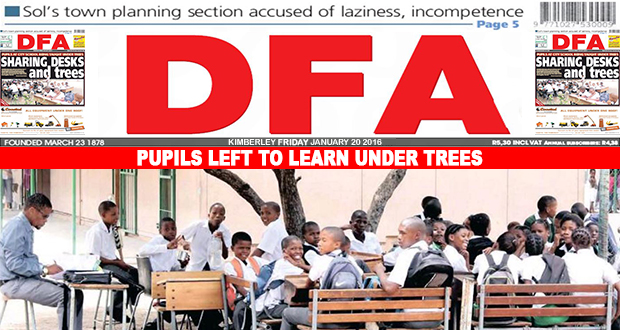 Pupils left to learn under trees