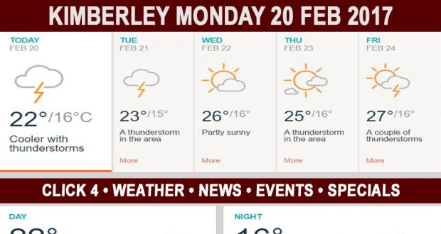Today in Kimberley South Africa - Weather News Events 2017/02/20