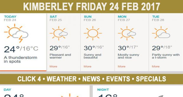 Today in Kimberley South Africa - Weather News Events 2017/02/24