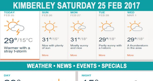 Today in Kimberley South Africa - Weather News Events 2017/02/25