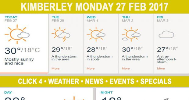 Today in Kimberley South Africa - Weather News Events 2017/02/27