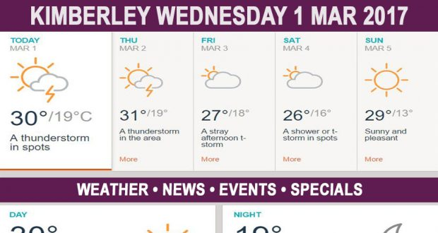 Today in Kimberley South Africa - Weather News Events 2017/03/01