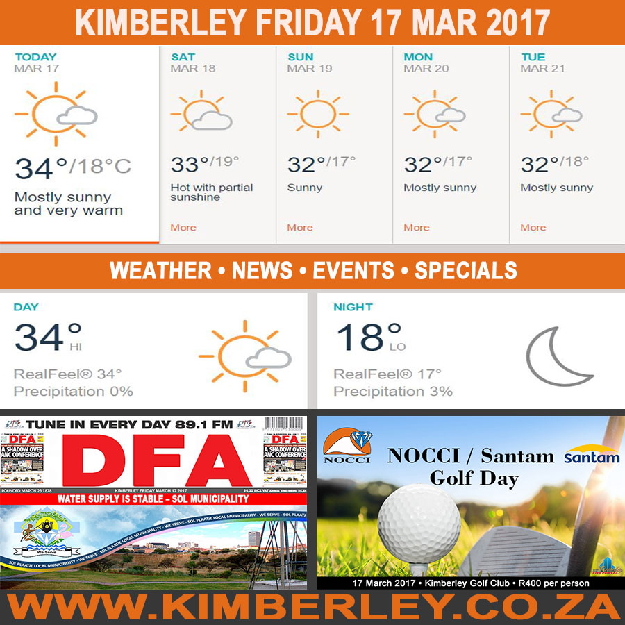 Today in Kimberley South Africa - Weather News Events 2017/03/17