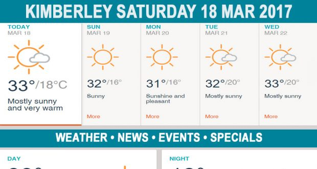 Today in Kimberley South Africa - Weather News Events 2017/03/18