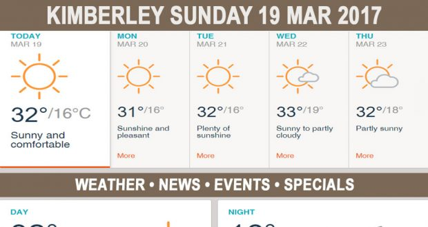 Today in Kimberley South Africa - Weather News Events 2017/03/19