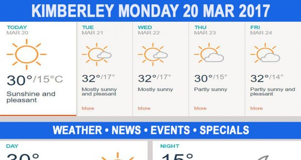 Today in Kimberley South Africa - Weather News Events 2017/03/20