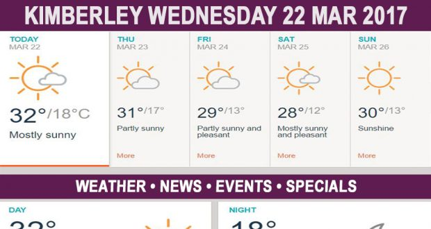 Today in Kimberley South Africa - Weather News Events 2017/03/22