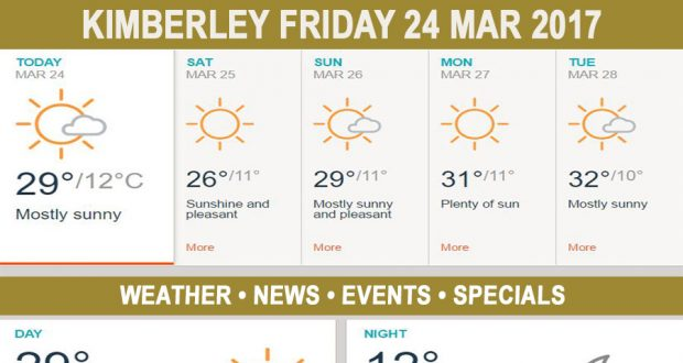 Today in Kimberley South Africa - Weather News Events 2017/03/24