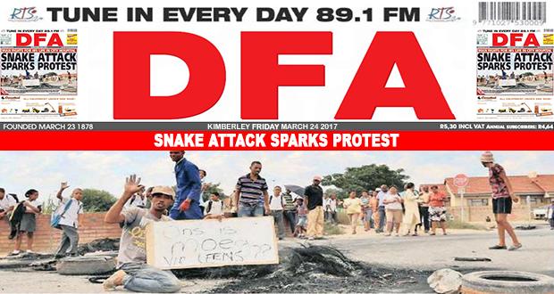 Snake bite sparks protest