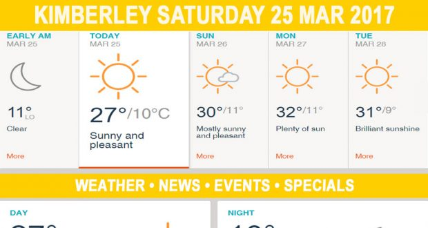 Today in Kimberley South Africa - Weather News Events 2017/03/25