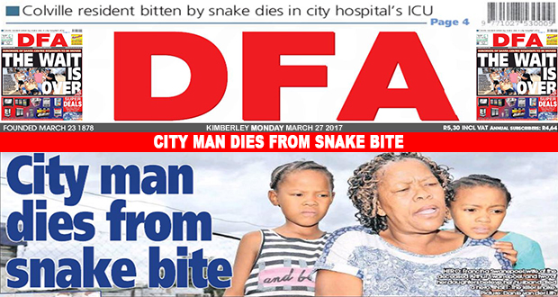 City man dies from snake bite