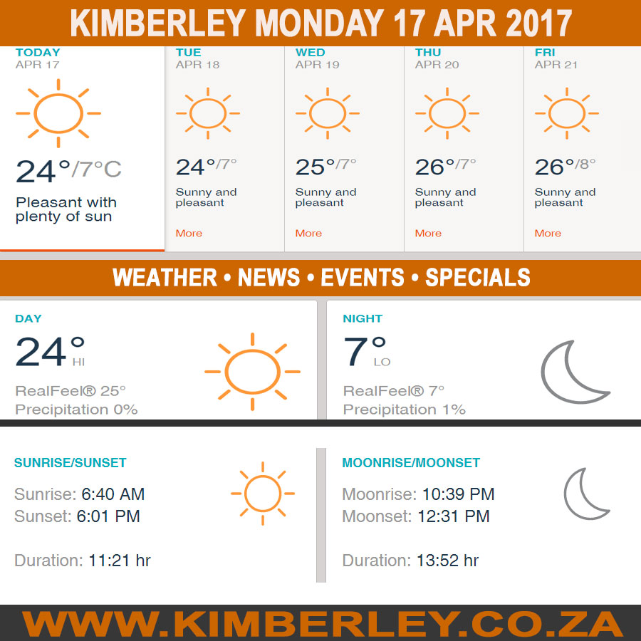 Kimberleytoday Monday 17 04 2017 Kimberley City Info