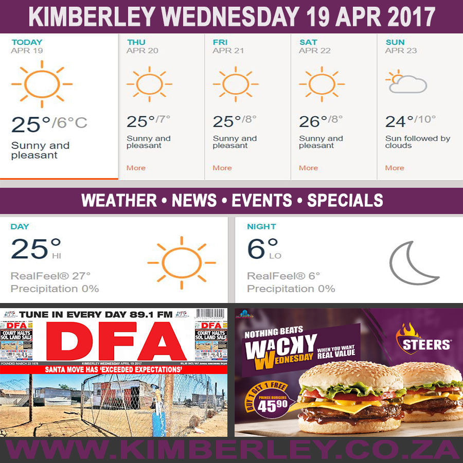 Today in Kimberley South Africa - Weather News Events 2017/04/19