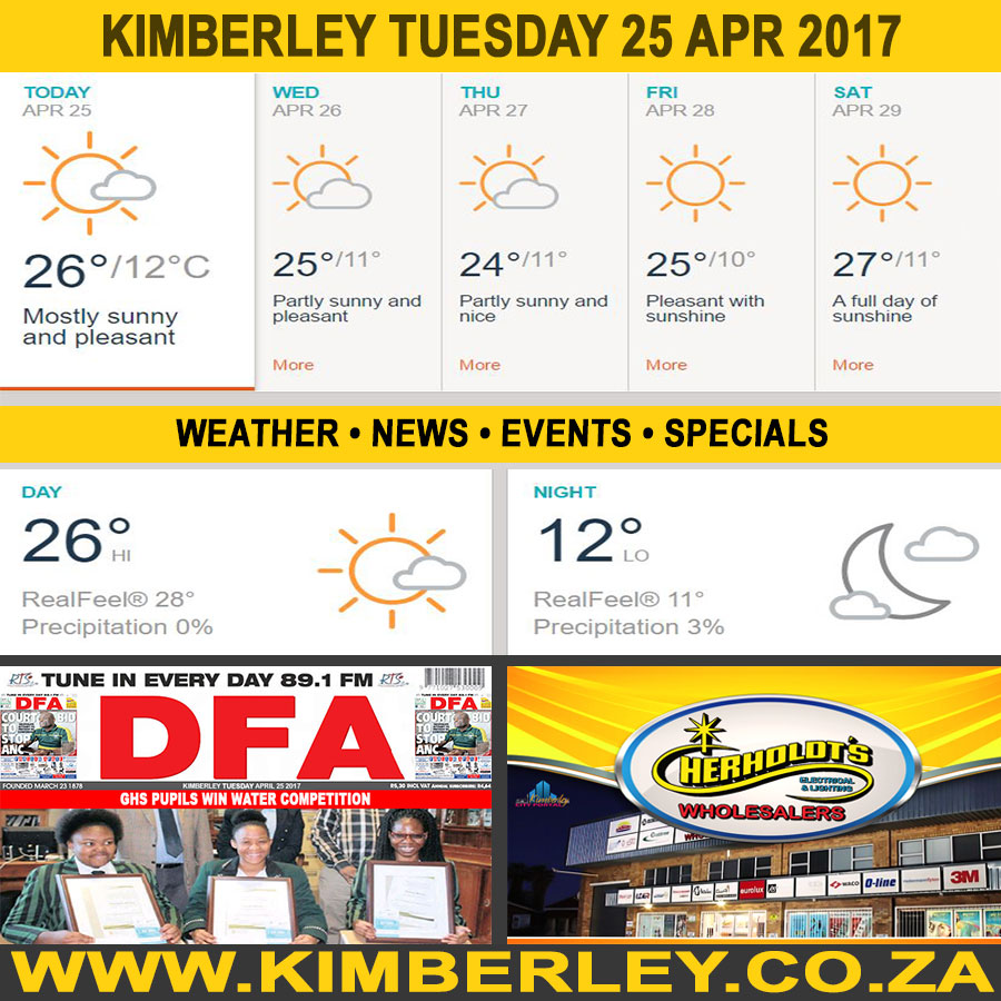 Today in Kimberley South Africa - Weather News Events 2017/04/25