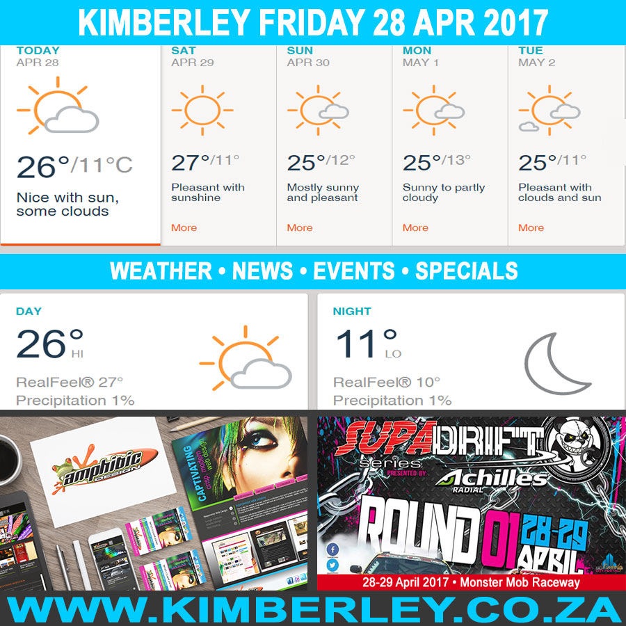 Today in Kimberley South Africa - Weather News Events 2017/04/28