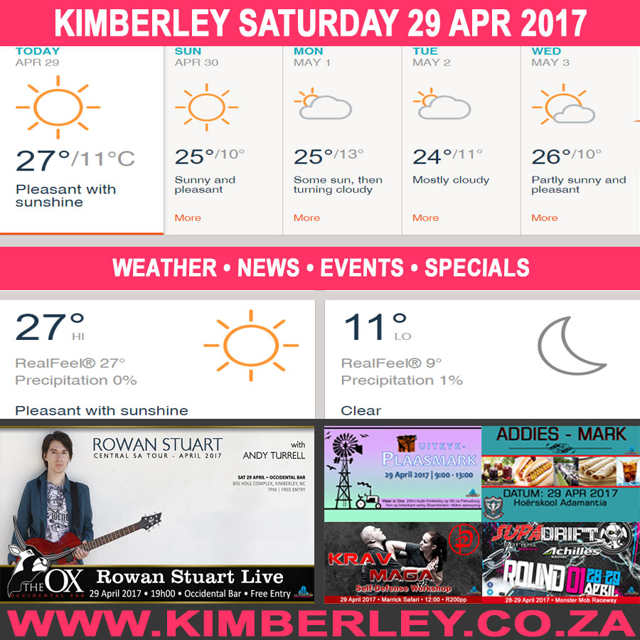 Today in Kimberley South Africa - Weather News Events 2017/04/29