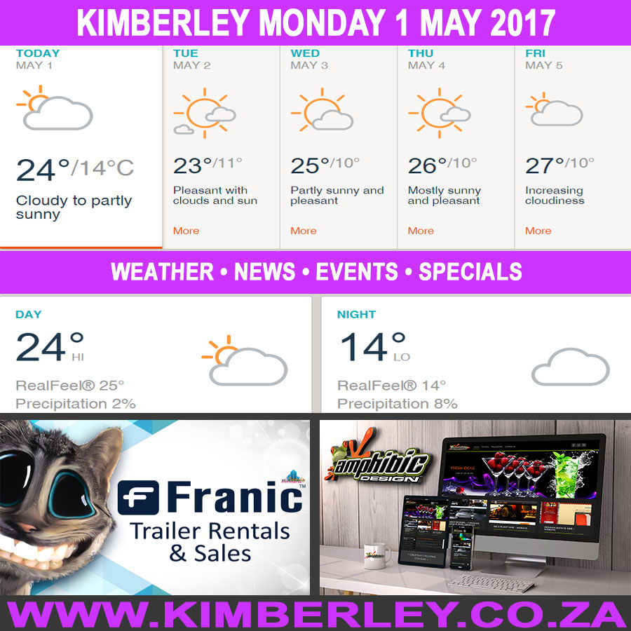 Today in Kimberley South Africa - Weather News Events 2017/05/01