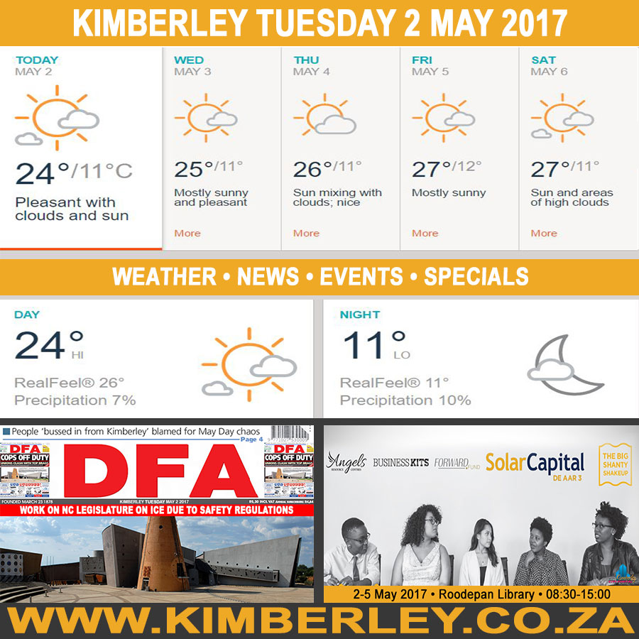 Today in Kimberley South Africa - Weather News Events 2017/05/02