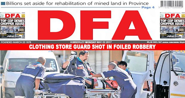 Clothing store guard shot in foiled robbery