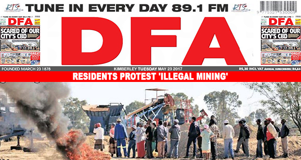 Residents protest 'illegal mining'