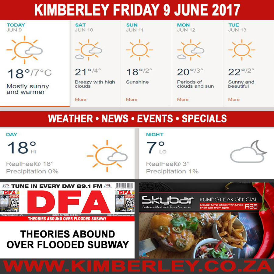 Today in Kimberley South Africa - Weather News Events 2017/06/09