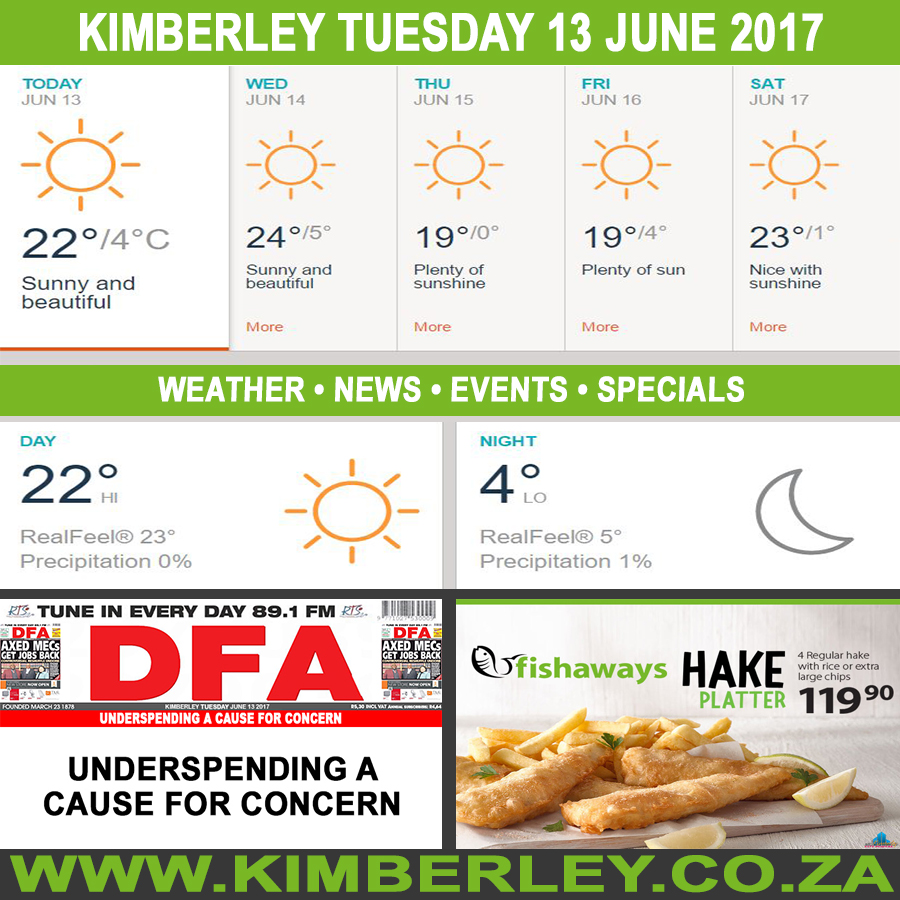 Today in Kimberley South Africa - Weather News Events 2017/06/13