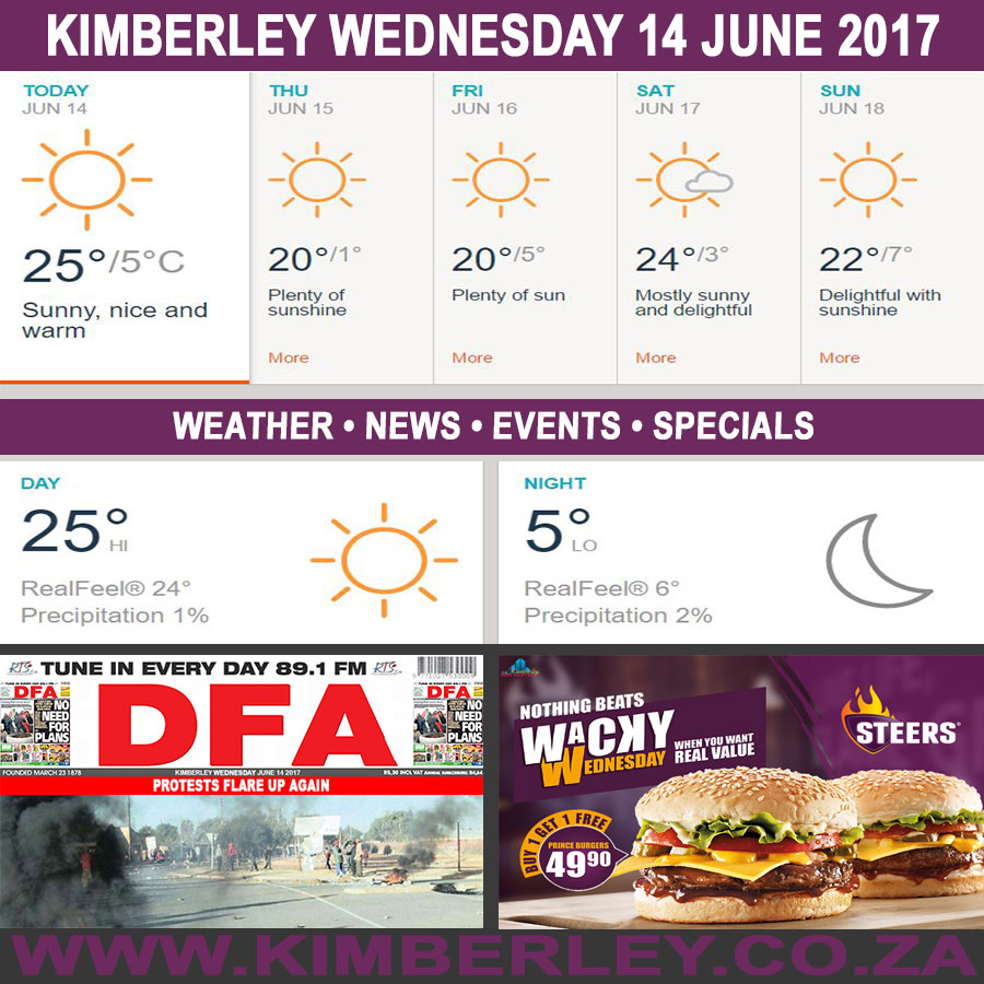 Today in Kimberley South Africa - Weather News Events 2017/06/14