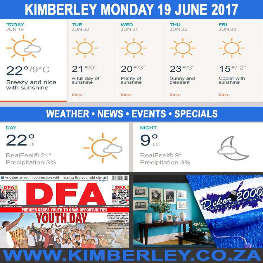 Today in Kimberley South Africa - Weather News Events 2017/06/19