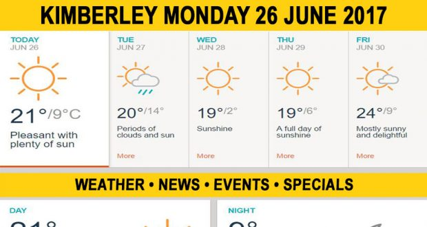 Today in Kimberley South Africa - Weather News Events 2017/06/26